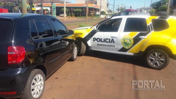 Na colisão ninguém ficou ferido. (Fotos: Portal Palotina)