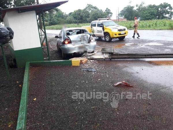 Não houve feridos no acidente (Foto: AquiAgora.net )