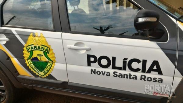 A PM esteve no local. (Foto: Arquivo Portal Nova Santa Rosa)