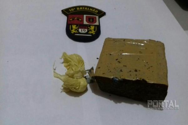 Maconha e cocaína foram detidas. (Foto:PM)