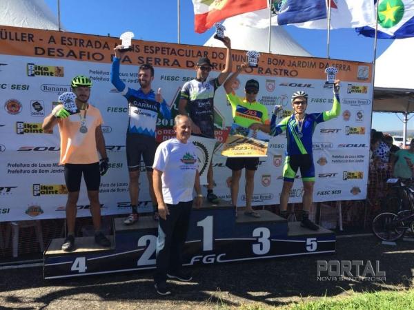 Juliano da Cicles no podium em SC. (Fotos: Colaborador)