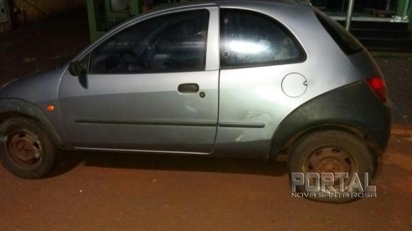 O veículo havia sido furtado na sexta-feira (16). (Foto: Marechal News)