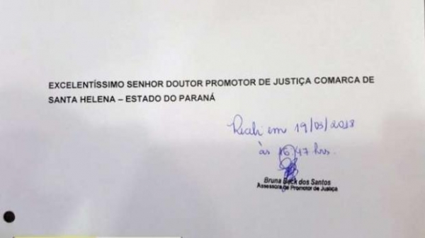 A notícia de fato, protocolada no MP, refere-se a promoção pessoal que, em tese, vinha sendo feita em favor do prefeito. (Foto: Correio do Lago)