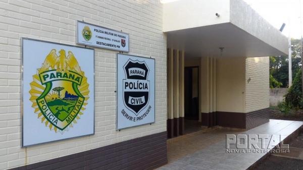 Destacamento da PM em Nova Santa Rosa. (Foto: Portal Nova Santa Rosa)