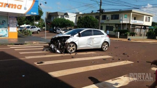 Do acidente ninguém ficou ferido. (Foto: Portal Palotina)