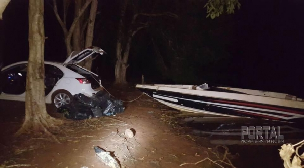 na noite desta sexta-feira (23), no Lago de Itaipu, em Santa Terezinha de Itaipu.(Foto:PF)