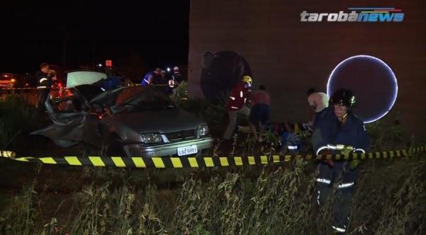 O acidente resultou em uma vítima fatal (Foto: Tarobá News )
