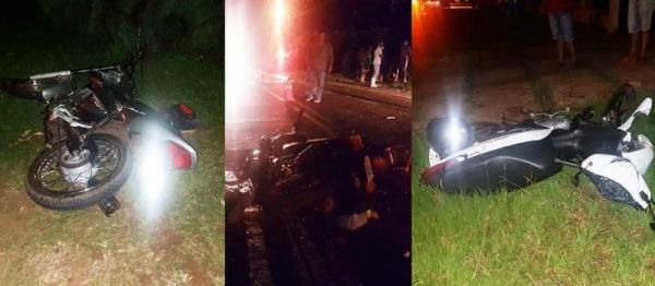 Motociclistas morrem em acidente entre Perobal e Altônia (Foto: Brandão Junior )