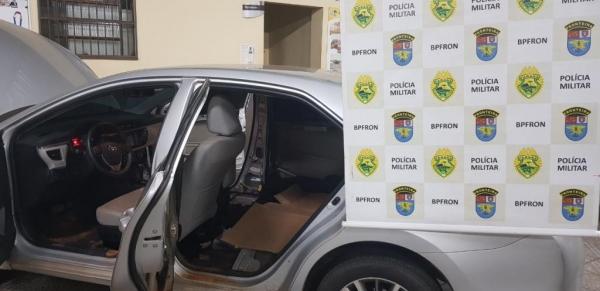 O Corolla foi recuperado em Guaíra. (Foto:Assessoria)
