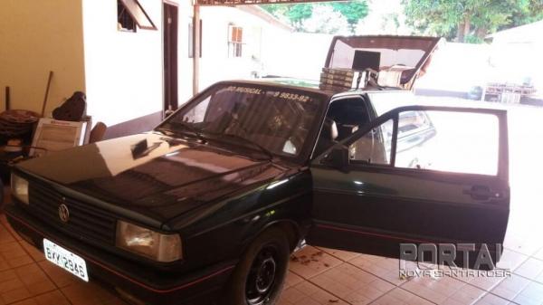 O veículo foi furtado ontem. (Foto: Portal Guaíra)