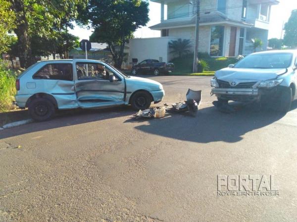 O acidente foi nesta manhã. (Fotos Colaborador)