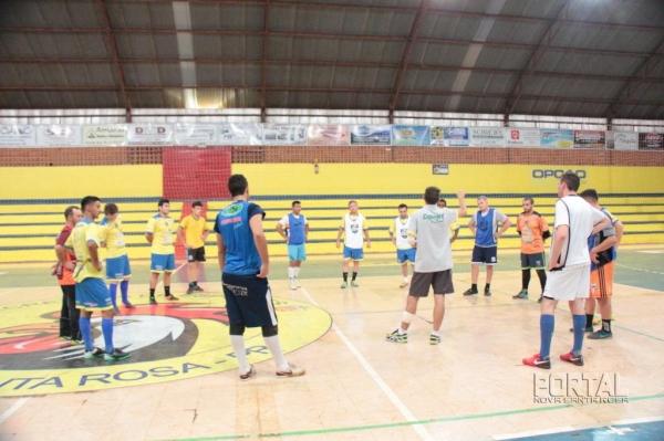 A equipe está se preparando a aproximadamente 45 dias, na quinta-feira (12) foi realizado mais um treinamento na Casa do Galo.(Foto: Portal Nova Santa Rosa)