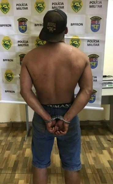 O indivíduo era um dos sete fugitivos da cadeia de Palotina. (Foto: Assessoria)