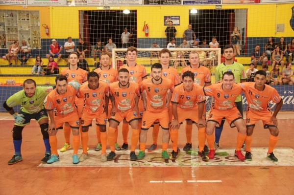 Equipe do Nova Santa Rosa Futsal. (Foto: Divulgação)