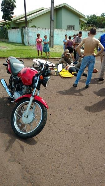 Dois feridos foram encaminhados ao UPA. (Foto: Colaborador)