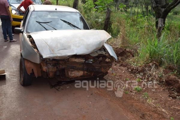 O motociclista ficou ferido no acidente (Foto: Jones Souza/AquiAgora.net )