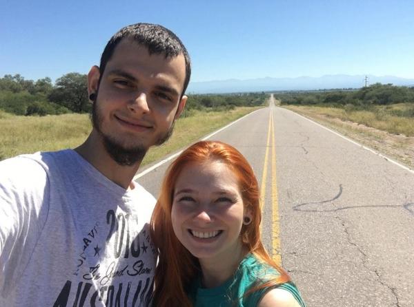 Uma aventura inesquecível para o casal. (Fotos: Arquivo Pessoal)