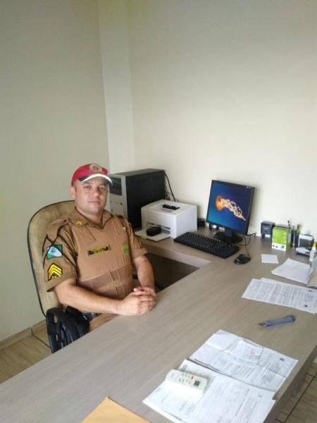 Sgt De Souza assume o Posto Policial Rodoviário de Marechal Cândido Rondon (Foto: Divulgação )