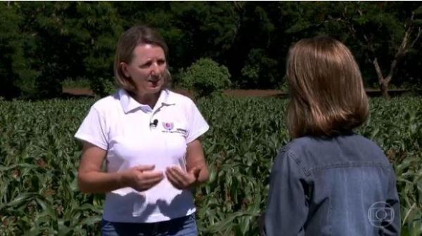 A rondonense foi uma das entrevistadas no programa Globo Rural, da TV Globo(Foto: Reprodução )