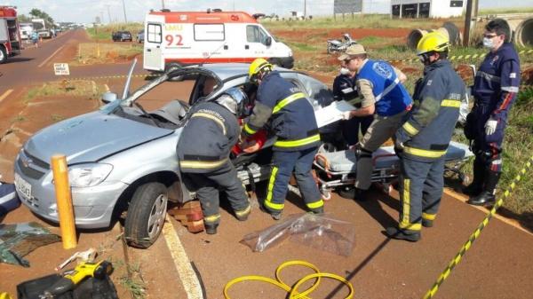O acidente ocorreu por volta das 14 horas . (Foto: Colaborador)