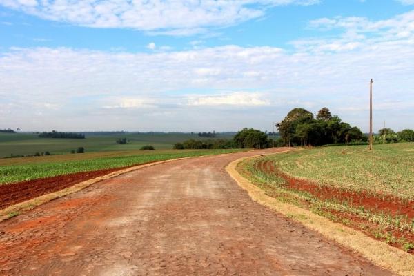: trecho concluído na Linha 18 de Abril, sede do município.(Foto: Assessoria)