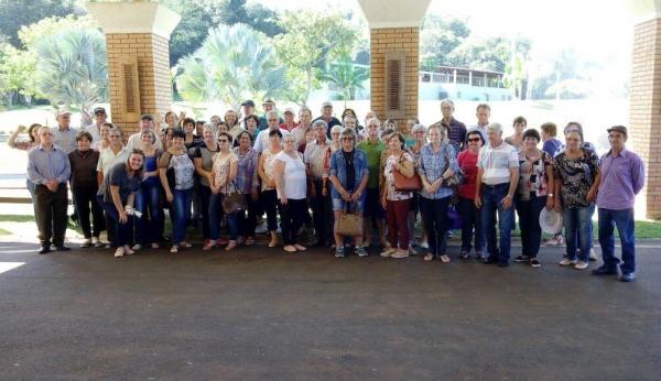 Grupo da Terceira Idade visita Thermas de Sulina. (Foto: Assessoria)