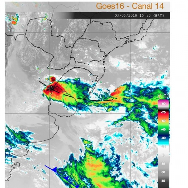 Instabilidade no sul do Brasil provoca pancadas de chuvas no Paraná (Foto: Simepar )