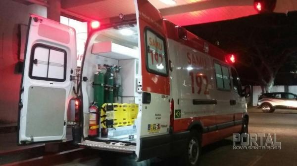 O homem foi transferido para Hospital de Entre Rios do Oeste.(Foto: Marechal News)