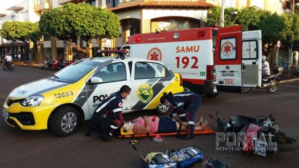 Os feridos foram encaminhados para o 24 horas. (Fotos: Marechal News)