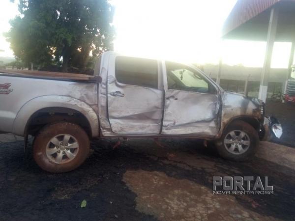 O veículo teve perda de grande monta.(Foto: Colaborador)