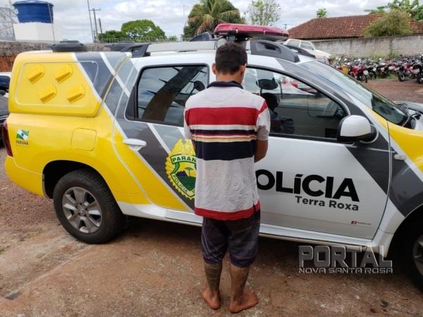Jeferson Cardozo da Silva foragido  foi capturado. (Foto:PM)