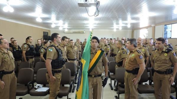 A solenidade foi presidida pelo Comandante do 19º BPM.(Foto: Assessoria)