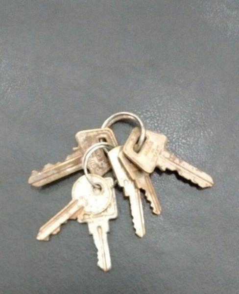 Molho de chaves encontrado hoje. (Foto: Colaborador)