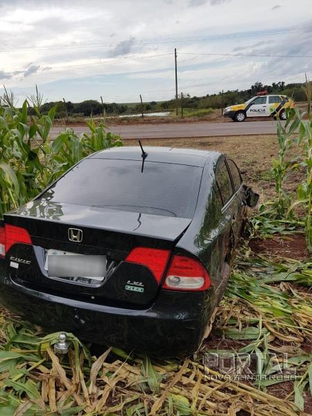 O condutor perdeu o controle da direção. (Foto:PRE)