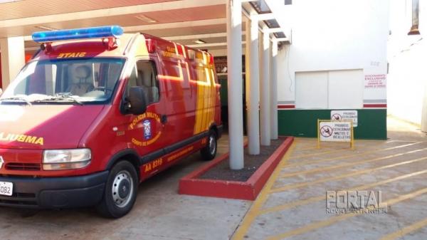 O motociclista foi socorrido e levado ao 24 horas. (Foto: Marechal News)