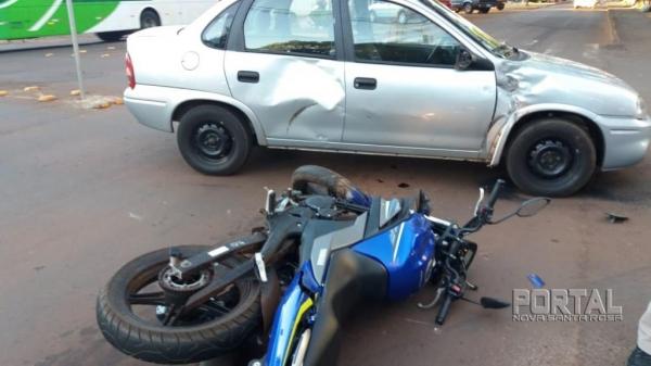 O acidente foi na região central da cidade.(Foto: Marechal News)