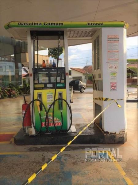 O Auto Posto Cosaco está sem combustíveis desde ontem. (Foto: Portal Nova Santa Rosa)
