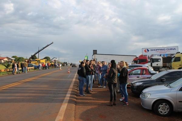 Paralização no município de Mercedes. (Foto: Divulgação)