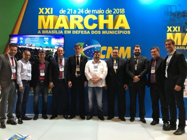 Anderson participa da XXI Marcha dos Prefeitos à Brasília e cumpre agenda em ministérios 2 Descrição: Marcha dos Prefeitos à Brasília. (Foto: Assessoria)