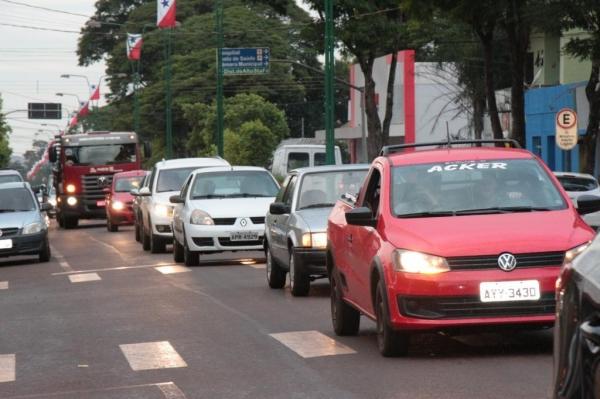 Passeata organizada pela Acinsar. (Foto: Portal Nova Santa Rosa)