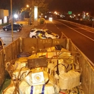 Motorista teria pego a droga em Ponta Porã (MS) (Foto: Polícia Rodoviária)