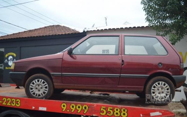 O veículo foi guinchado e levado ao Pátio da 20ª SDP. (Foto: Bogoni)