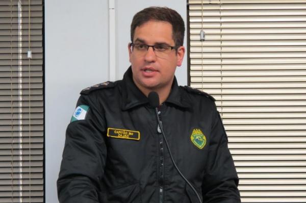 Capitão Tiago Zajac, comandante do Corpo de Bombeiros de Marechal Cândido Rondon. (Foto: Assessoria)
