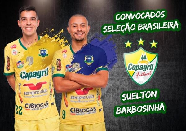 Suelton e Barbosinha foram convocados para defenderem o Brasil. (Foto: Assessoria)