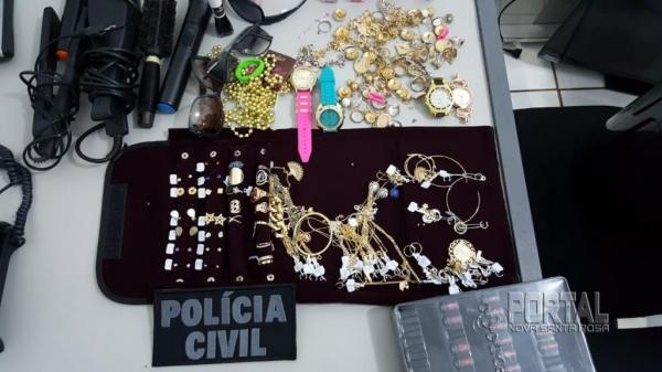 Produtos apreendidos pela Polícia Civil de Marechal. (Fotos: Polícia Civil)