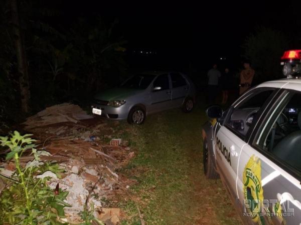 O veículo foi localizado no Bairro Santa Terezinha. (Foto: PM)