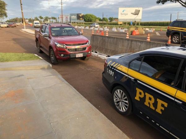 O condutor paraguaio foi preso.(Foto:PRF)