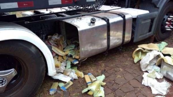 A droga foi encaminhada à delegacia da PF, em Foz do Iguaçu (Foto: Polícia Federal/Divulgação )