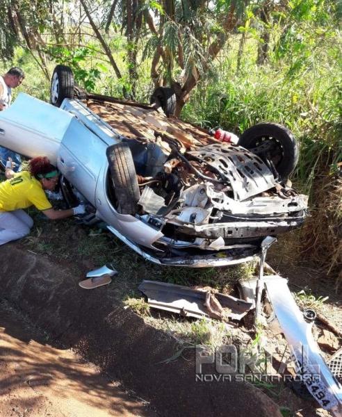 O acidente envolveu o GM Corsa Classic. (Foto Colaborador)
