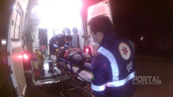 O morador foi encaminhado para o Hospital Beneficente. (Foto: Léo Silva/Radar B.O.)